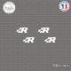 4 Stickers Volkswagen R Sticks-em.fr Couleurs au choix