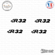 4 Stickers Volkswagen R32