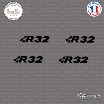 4 Stickers Volkswagen R32