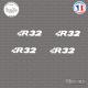 4 Stickers Volkswagen R32 Sticks-em.fr Couleurs au choix