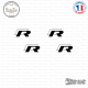 4 Stickers Volkswagen Rr