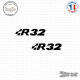 2 Stickers Volkswagen R32