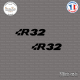 2 Stickers Volkswagen R32 Sticks-em.fr Couleurs au choix