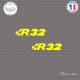 2 Stickers Volkswagen R32 Sticks-em.fr Couleurs au choix