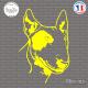 Sticker Bull Terrier Sticks-em.fr Couleurs au choix