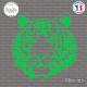 Sticker Tête de Lion Sticks-em.fr Couleurs au choix