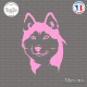 Sticker Tête de Husky Sticks-em.fr Couleurs au choix