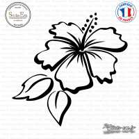 Sticker Floral Hibiscus Sticks-em.fr Couleurs au choix