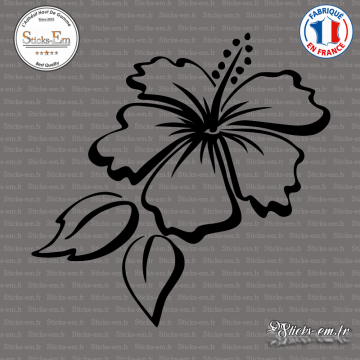Sticker Floral Hibiscus