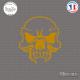 Sticker Tête de Mort Skull Sticks-em.fr Couleurs au choix