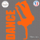 Sticker Danseur de Hip-Hop Sticks-em.fr Couleurs au choix