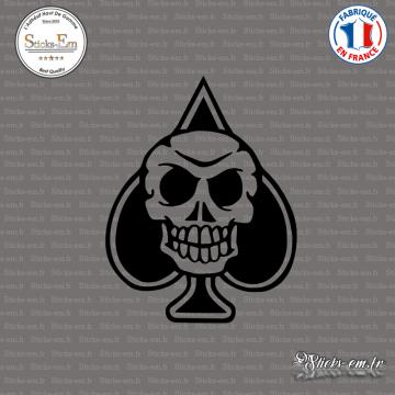 Sticker Skull Pique