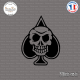 Sticker Skull Pique Sticks-em.fr Couleurs au choix