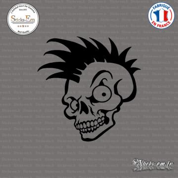Sticker Tête de Mort Skull Punk