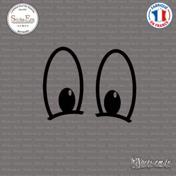 Sticker Yeux Cartoon