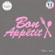 Sticker Bon Appétit Sticks-em.fr Couleurs au choix