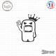 Sticker JDM Domo king Sticks-em.fr Couleurs au choix