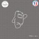 Sticker JDM Domo walk Sticks-em.fr Couleurs au choix