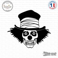 Sticker Tête de Mort Clown
