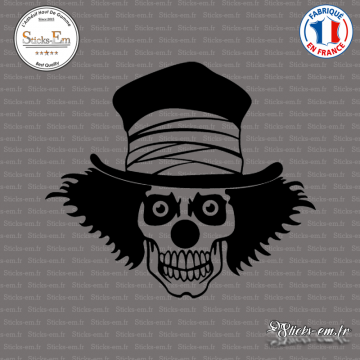 Sticker Tête de Mort Clown