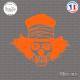 Sticker Tête de Mort Clown Sticks-em.fr Couleurs au choix
