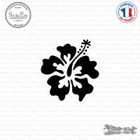 Sticker Hibiscus 02 Sticks-em.fr Couleurs au choix