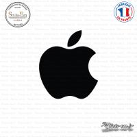 Sticker Apple Pomme Sticks-em.fr Couleurs au choix