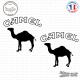 2 Stickers Camel Logo