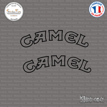 2 Stickers Camel arrondis