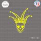Sticker Tête de Mort Joker Sticks-em.fr Couleurs au choix