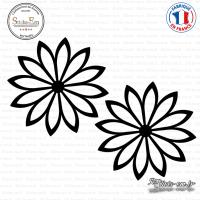 2 Stickers Fleurs décoration Sticks-em.fr Couleurs au choix