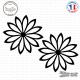 2 Stickers Fleurs décoration