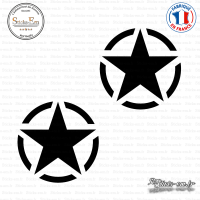 2 Stickers Etoile US Army Star
