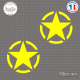 2 Stickers Etoile US Army Star Sticks-em.fr Couleurs au choix