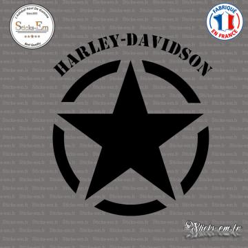 Sticker Etoile US Army Star Harley Davidson