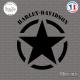 Sticker Etoile US Army Star Harley Davidson Sticks-em.fr Couleurs au choix