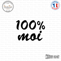 Sticker 100 pourcent Moi Sticks-em.fr Couleurs au choix