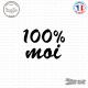 Sticker 100 pourcent Moi