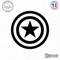 Sticker Captain America Sticks-em.fr Couleurs au choix