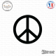 Sticker Peace and Love sticks-em.fr