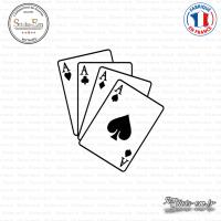 Sticker Jeux de cartes