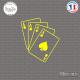 Sticker Jeux de cartes Sticks-em.fr Couleurs au choix