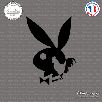 Sticker Playboy bunny français