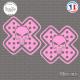 2 Stickers The Punisher Pansement Sticks-em.fr Couleurs au choix