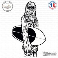 Sticker Chewbacca Surf Sticks-em.fr Couleurs au choix