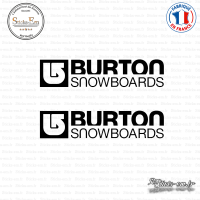 2 Stickers Burton Snowboards Sticks-em.fr Couleurs au choix
