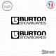 2 Stickers Burton Snowboards