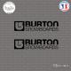 2 Stickers Burton Snowboards Sticks-em.fr Couleurs au choix