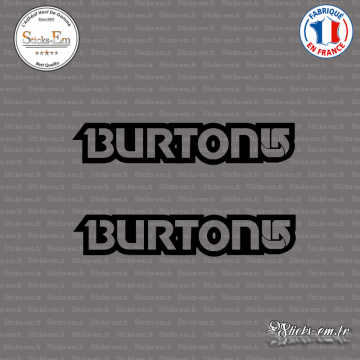 2 Stickers Burton