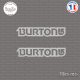 2 Stickers Burton Sticks-em.fr Couleurs au choix